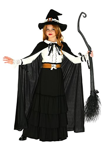Girl's Old-World Witch Costume Child's Salem Witch Costume Large (12-14)