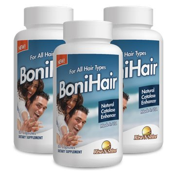 BoniHair 3 month supply discounted! Boni Hair Best Selling Hair Supplement with Catalase, Saw Palmetto, Fo-Ti, Biotin, PABA, Nettle Root & more!
