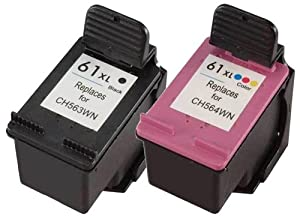 HP 61 Black & Tri-color Original Ink Cartridges, 2 Cartridges (CR259FN)