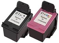 HP 61 Black Ink Cartridge (CH561WN), HP 61 Tri-Color Ink Cartirdge (CH562WN), 2 Ink Cartridges (CR259FN)