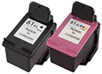 HP 61 Black Ink Cartridge (CH561WN), HP 61 Tri-Color Ink Cartirdge (CH562WN), 2 Ink Cartridges (CR259FN)