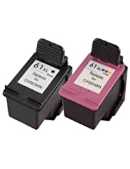 HP 61 Black Ink Cartridge (CH561WN), HP 61 Tri-Color Ink Cart...