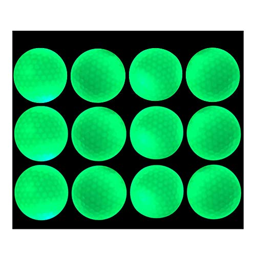 Glow Golf Balls - Luminous Night Golf Balls, Reusable and Glow in The Dark (12 -