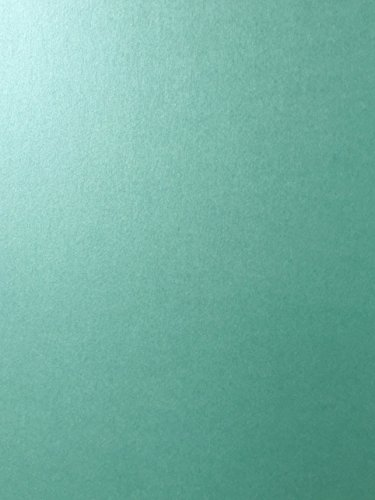 LAGOON GREEN Stardream Metallic Cardstock Paper - 8.5 X 11 inch - 105 lb. / 284 gsm Cover - 25 Sheets from Cardstock Warehouse (Shimmer Card)