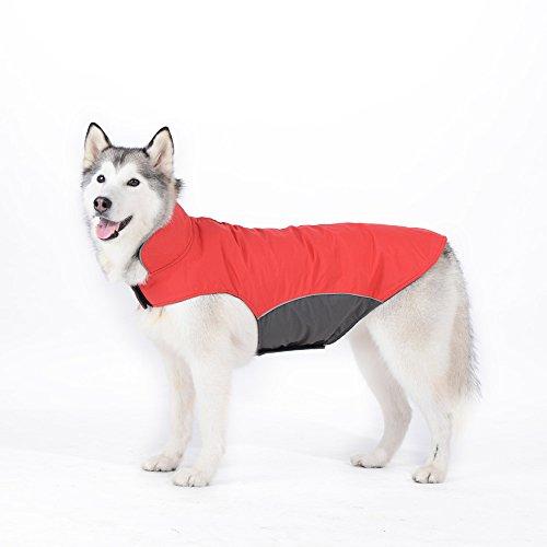 Chaleco para perro grande mediano para invierno Rojo