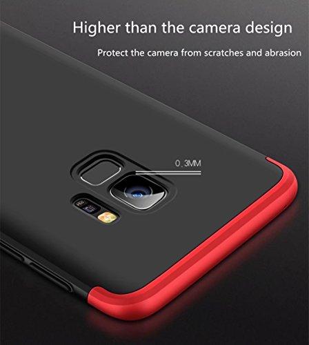 Galaxy S9 Hülle,HGalaxy S9 360 Grad Hülle,SainCat 3 in 1 Hart PC Hülle Ganzkörper-Koffer 360 Full Body Schutz Handyhülle [Thin Fit 360] Komplettschutz Front + Back Rundum Double Beidseitiger Schutzhül Roségold