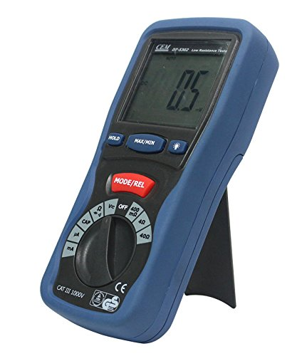 Professional CEM DT-5302 High-Accuracy Kelvin 4-Wires Milliohm Meter 4000 counts (High Resolution Milliohm Meter)