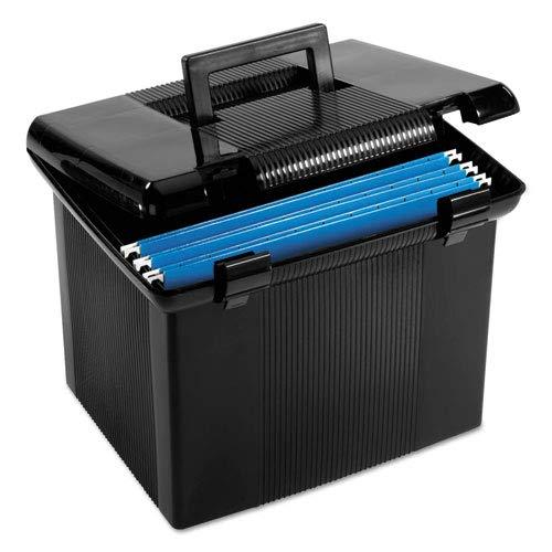 Pendaflex® Portafile File Box, Letter, Plastic, 14-7/8 x 12-1/8 x 11-7/8, Black