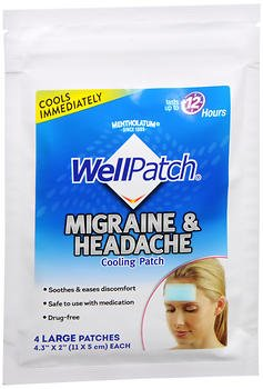 Well Patch Migraine Cooling Patch - 4 ea., Pack of 3