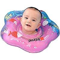 TodoNiños Flotadores de Anillo para Cuello de Bebé - Seguridad Confiable Nadar Más Rápido Alberca Playa - Recien Nacido (Rosa)