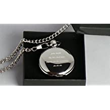 Best Man Gifts, Engraved Personalised, Masons Of London Pocket Watch in Gift Box 18th, 21st, 40th, 50th, 60th, Birthdays, Retirement, Best Man, Weddings, New Job by GPO Group