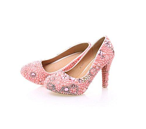 Minitoo ,  Damen Plateau Pink-10cm Heel