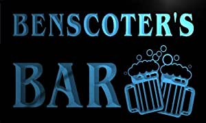 w035917-b BENSCOTER Name Home Bar Pub Beer Mugs Cheers Neon Light Sign