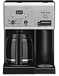 Cuisinart CHW-12 Coffee Plus 12-Cup Programmable Coffeemaker with Hot Water System, Black Stainless