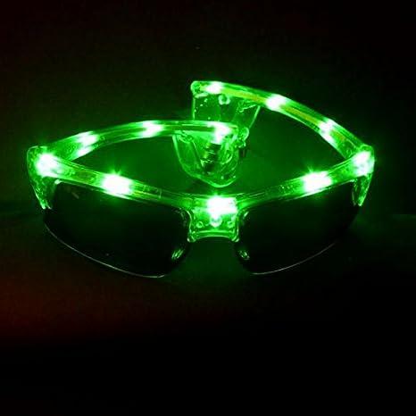 Decotrend-Line Gafas de Sol Luminosos LED, Color Verde ...