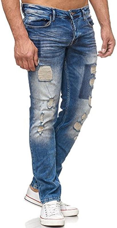 Tazzio męskie spodnie jeansowe 17507: Odzież