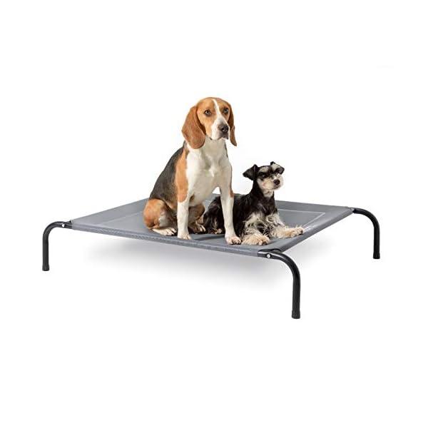 4132IU4zUvL Bedsure Hundeliege outdoor mittelgrosse Hunde - Hundeliege grau in und outdoor Garten, für draußen camping erhöhtes…