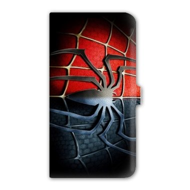 leather flip Case Carcasa Samsung Galaxy S5 Mini superheros - - spiderman noir -