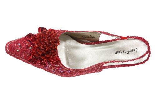 Pour John Sandales Fashion JohnFashion Rouge Femme rEtrvq