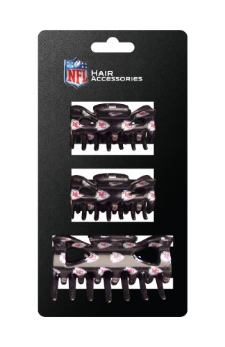 NFL Kansas City Chiefs Hair Accessory Plastic Hair Clip (Kansas Accessories)