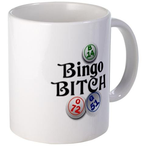 BINGO B*TCH Player Fan 11oz Ceramic Coffee Cup Mug by Creative Clam