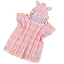 LUHEN Baby Cotton Bath Towel Hooded Cloak Bathrobe for Kids