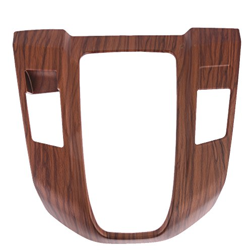 Saihisday Peach Wood Grain Inner Gear Shift Panel Cover Water Cup Holder for Honda CRV CR-V 2017 2018 (Gear Shift Panel Cover)