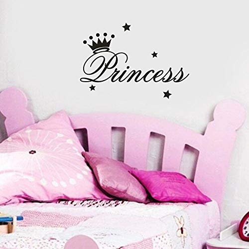 (NIHAI Princess Letter Wall Stickers, Removable Wall Decal Wall Sticker, DIY Art Vinyl Mural Decor for Nursery Classroom Kids Bedroom Living Room or Birthday Gift (2517.5cm))