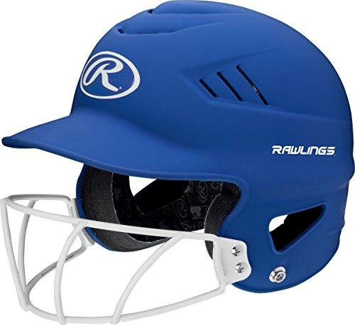 Rawlings Sporting Goods Highlighter Series Softball Helmet, Matte Royal - Fit Helmet Batting