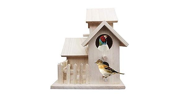 ZANGAO DIY Jaula de pájaro Nido Villa La alimentación de la casa ...