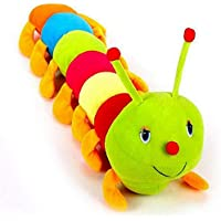 LVS TOYS Stuffed Soft Piush Toy Cute Colourful Caterpillar Soft Toy (55cm)