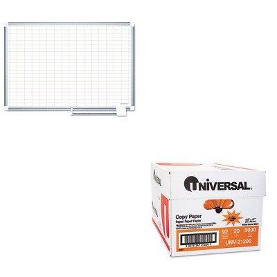 KITBVCMA2792830UNV21200 - Value Kit - Bi-silque MasterVision Grid Planning Board (BVCMA2792830) and Universal Copy Paper (UNV21200)