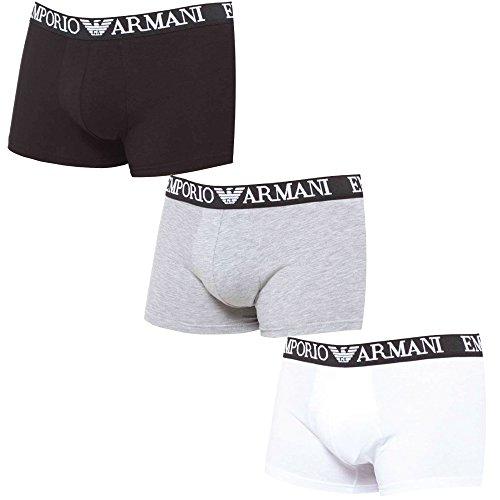 emporio Armani Herren Boxershort Gris rouge noir