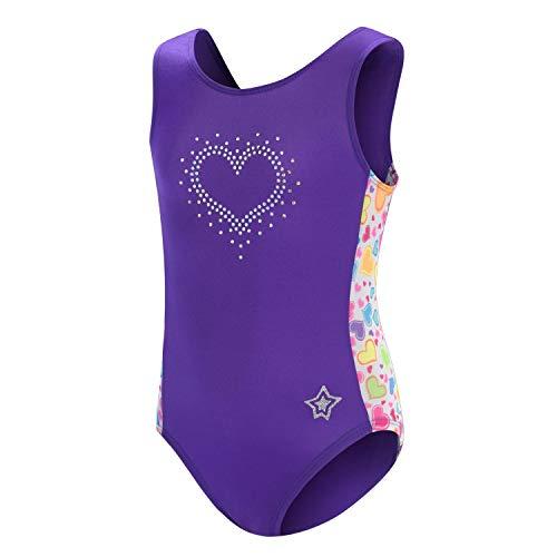 GK stars Leotard For Girls | Dance & Gymnastics Sweet Heart Child Small -