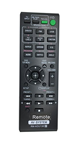 Vinabty New RM-ADU138 Replaced Audio Vidio Remote fit for SONY Home Theater DAV-TZ150 HBD-TZ145 DAV-TZ145 AV-RZ130 DAV-TZ140 HBD-TZ140 DAVTZ150 HBDTZ145 DAVTZ145 AVRZ130 DAVTZ140 HBDTZ140