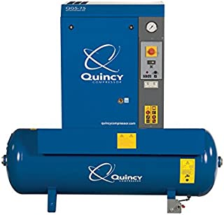 product image for Quincy QGS Rotary Screw Compressor - 7.5 HP, 230 Volt Single Phase, 60 Gallon, 21.2 CFM, Model Number QGS-7.5TM
