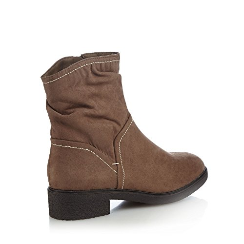 Good for the Sole Taupe Suedette 'Grayson' Mid Block Heel Wide Fit Ankle Boots UvtaQM9k