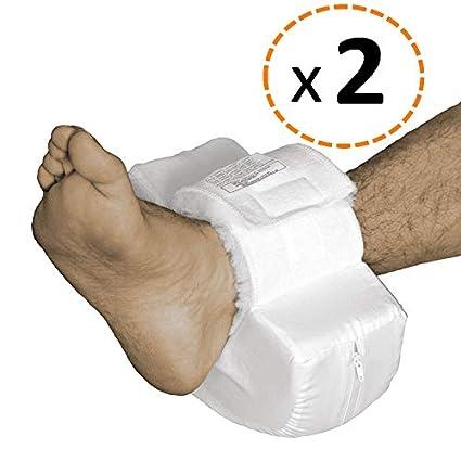 OrtoPrime Pack 2 Taloneras Antiescaras Forma Curva - Protector Ortopédico de Talón Pies y Codos - Par Dos Unidades - Talla Universal Adaptable - ...