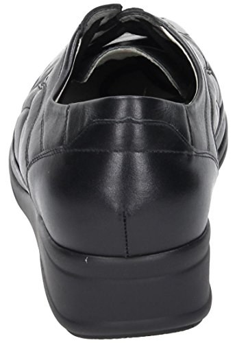 de Noir Mujer Schwarz Moni negro Waldläufer Zapatos Cordones CwqnH5RR8