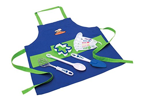 Curious Chef Chef's Kit, 11-Piece, Blue/Green