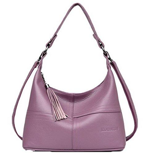 Sacs Achats Femme frange AllhqFashion Violet FBUFBD180905 à Pu sacs bandoulière Cuir La Des XO85dfqWdw
