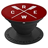 Rowing Crew Gift Oars Crew Team Rowers Coach Coxswain - PopSockets Grip and Stand for Phones and Tablets