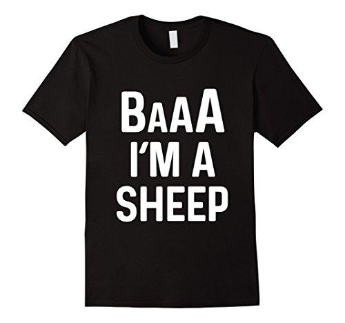 Mens I'm a Sheep Costume Shirt Funny Halloween Costumes Medium Black (Black Sheep Halloween Costume)