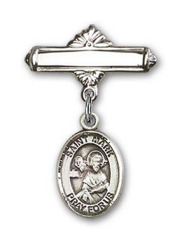 Icecarats Créatrice De Bijoux En Argent Sterling St. Marquer La Broche De Badge Charme Évangéliste 1 X 5/8