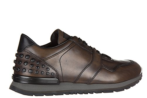 Tod's Baskets Homme Allacciate Cuir En Sneakers Chaussures Dots 1rxw5a1T