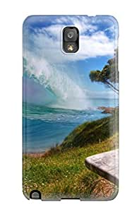Galaxy Note 3 Case Cover Skin : Premium High Quality Surfer Waves Case