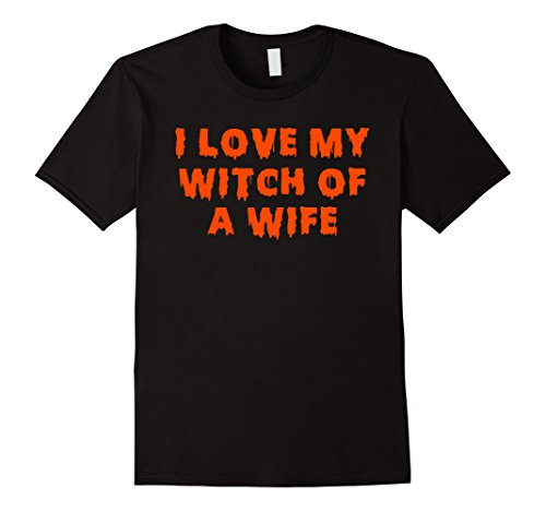 Witch Couple Costumes (Mens Halloween Couples Costumes | I Love My Witch of a Wife 2XL Black)