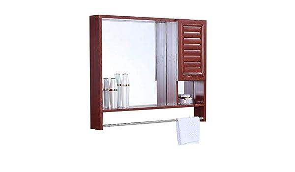 Armarios con espejo de baño con Puerta de baño Espejo con estantes ...