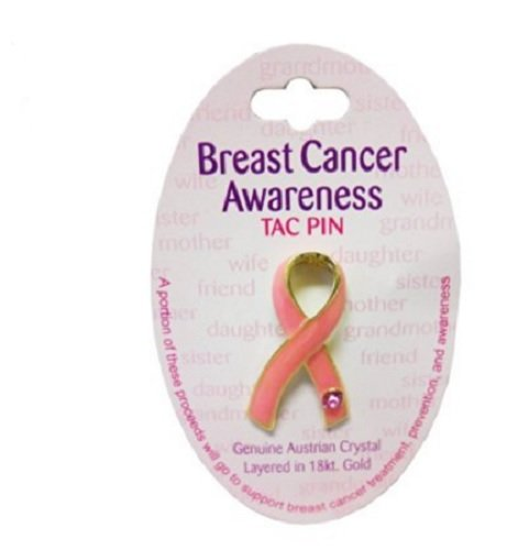 Breast Cancer Awareness Pink Ribbon Tac Pin Survivor Patient Gifts Charm (Tac Folder)