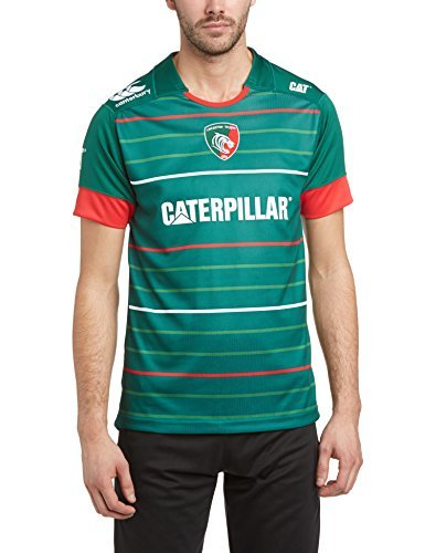 Canterbury Men's Leicester Tigers Home Pro Short Sleeve Jersey - Evergreen, Large by Canterbury ()